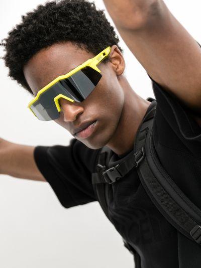 yellow Speedcraft tinted square sunglasses