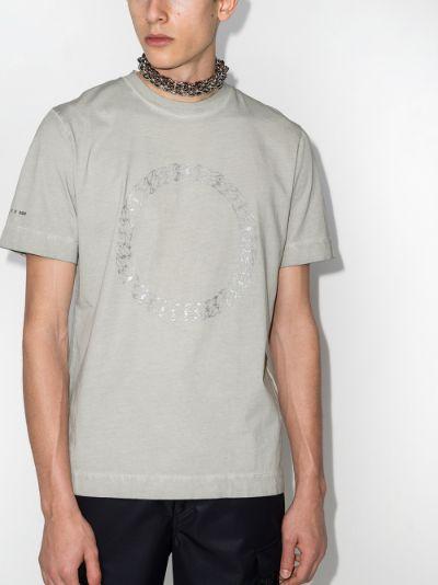 A Cube print cotton T-shirt
