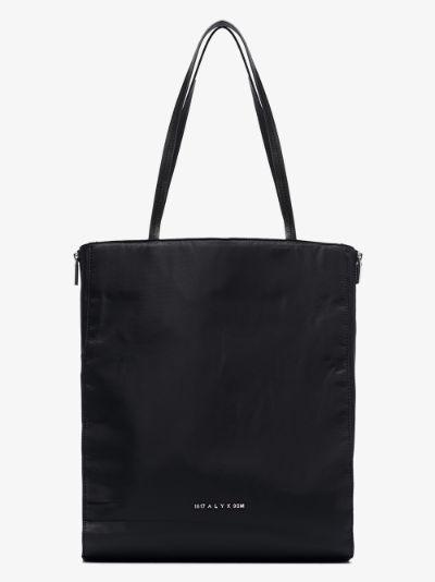 Black Re-Nylon shopper tote bag