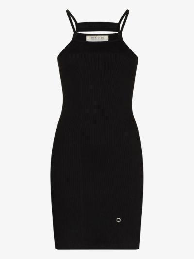 cutout cotton mini dress