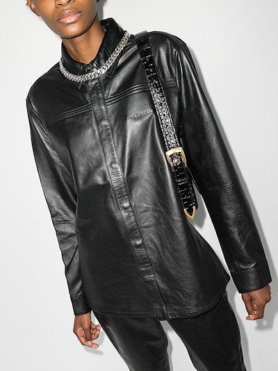 Drake leather shirt