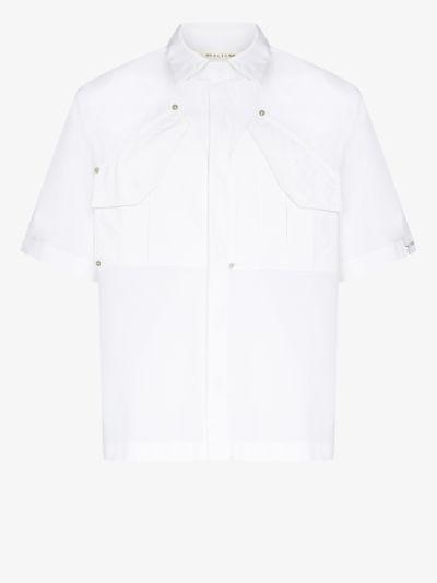 flap pocket cotton shirt