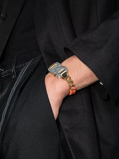 multicoloured curb chain buckle bracelet