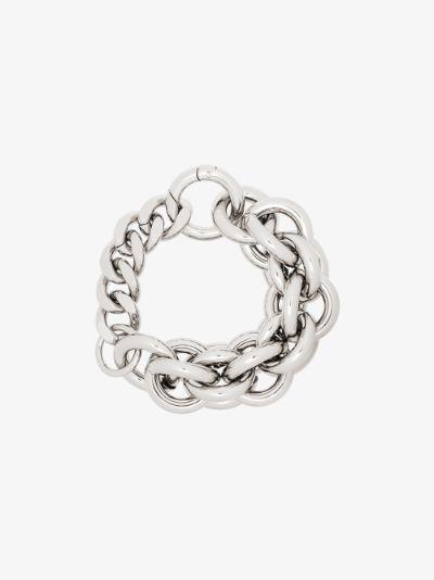 Silver Tone Chunky Chain Bracelet