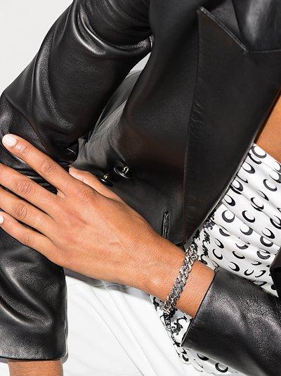 silver tone Cubix chain bracelet