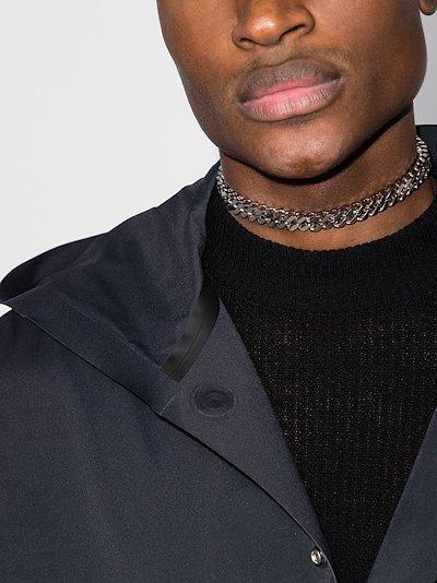 Silver tone Cubix chain necklace