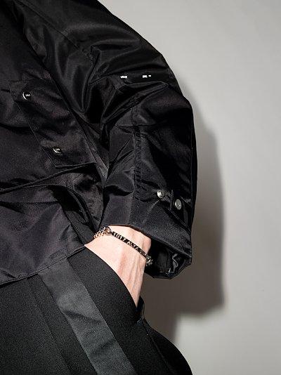 silver tone logo buckle bracelet