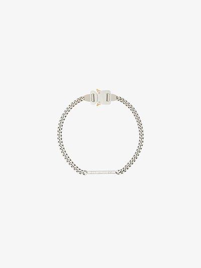 Silver Tone logo buckle Necklace