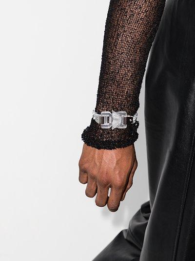 white buckle bracelet