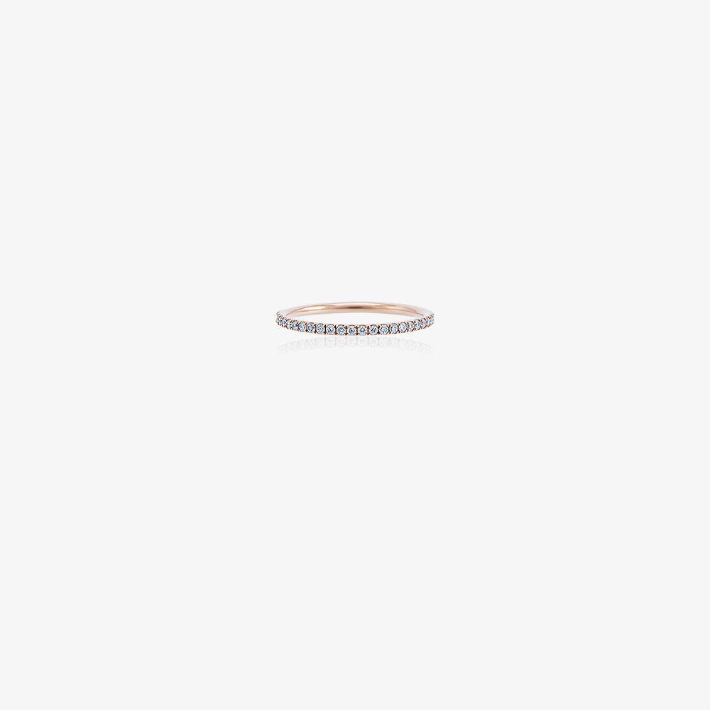 18K Rose Gold Thread P-D Diamond Ring