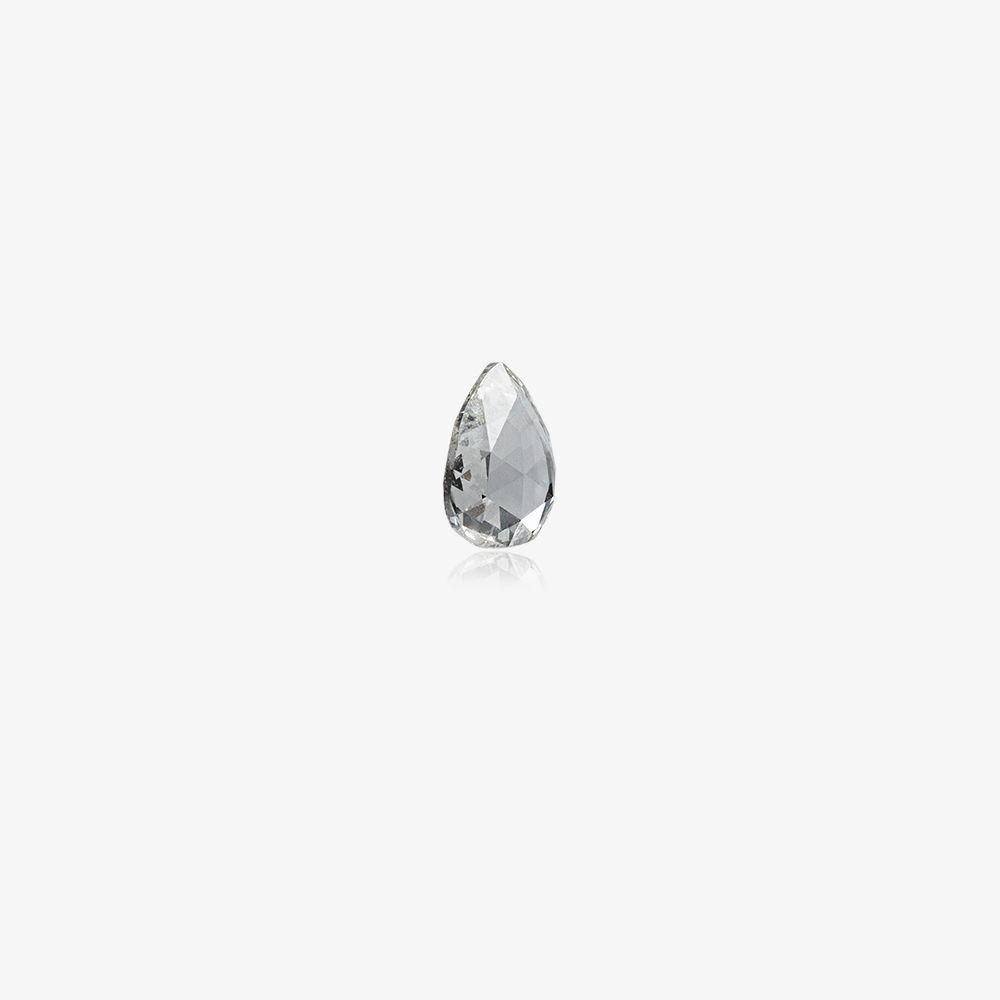 White April Diamond Birthstone Charm
