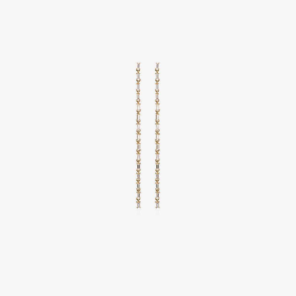 18K Gold Chain Chandelier Diamond Earrings