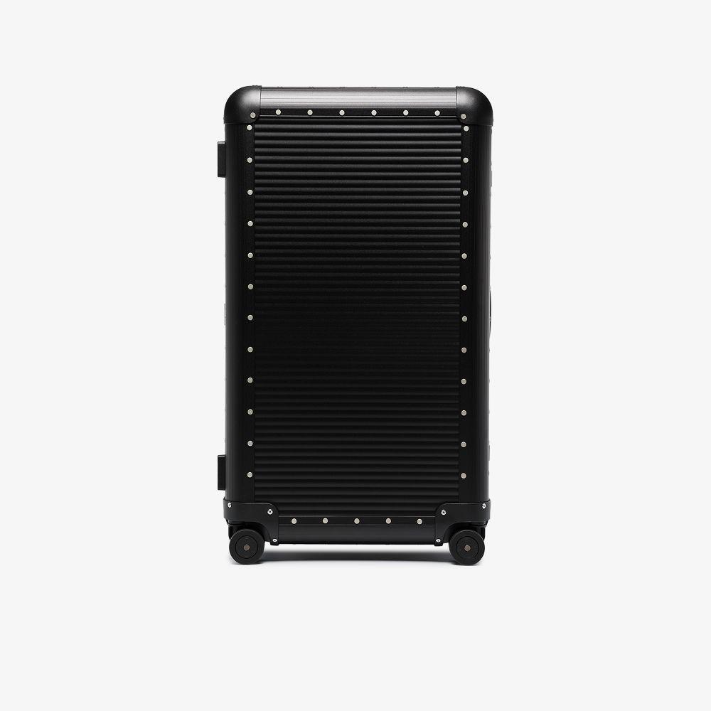 Black Bank Trunk On Wheels 84 Suitcase