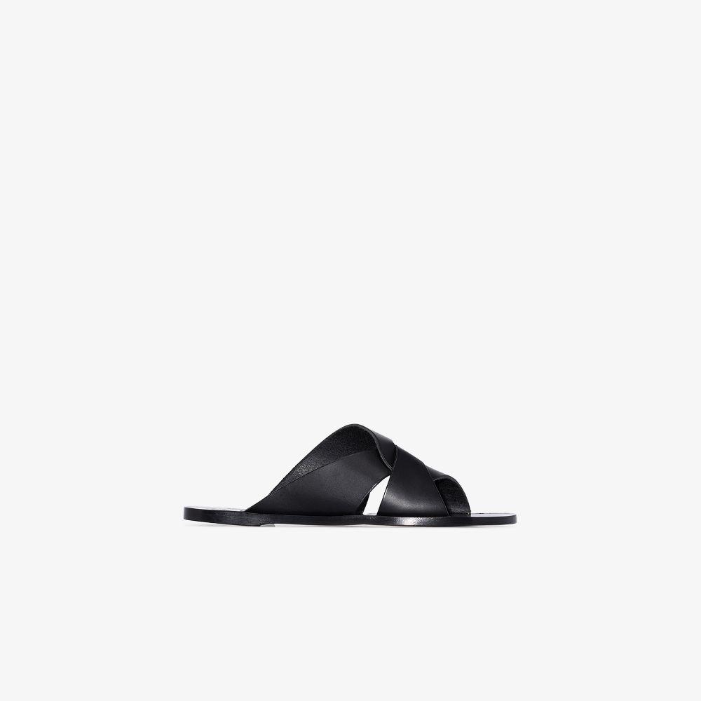 Black Allai Leather Sandals