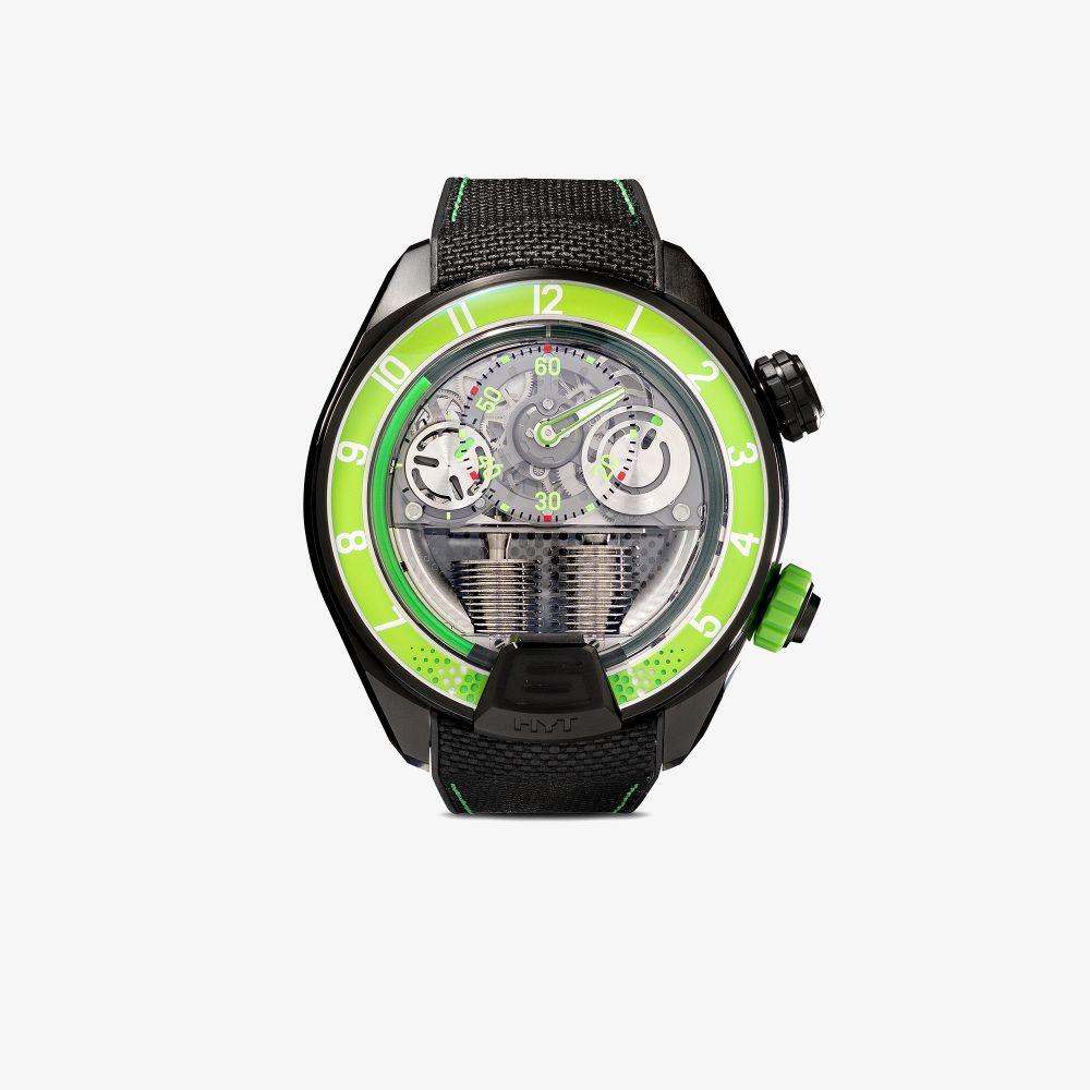Green And Black H4 Titanium Watch