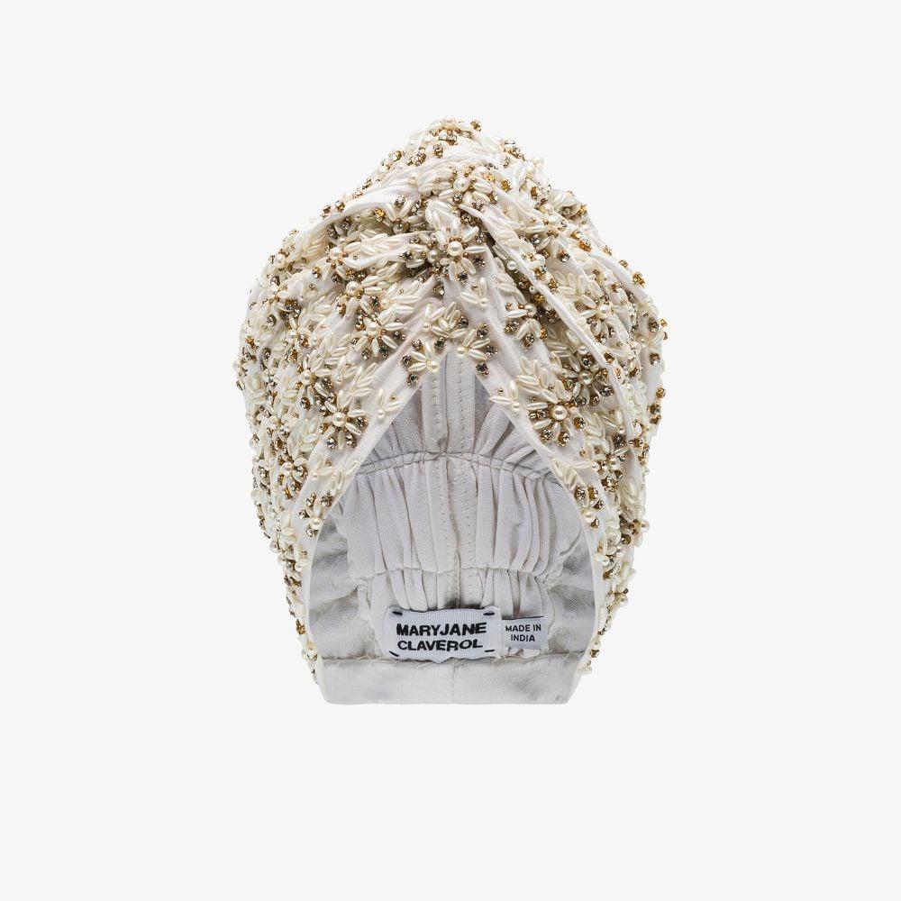 White Philo Embellished Turban