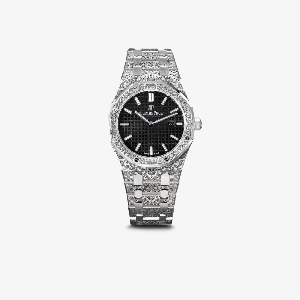 Customised Pre-Owned Audemars Piguet Grande Fleur Royal Oak Watch