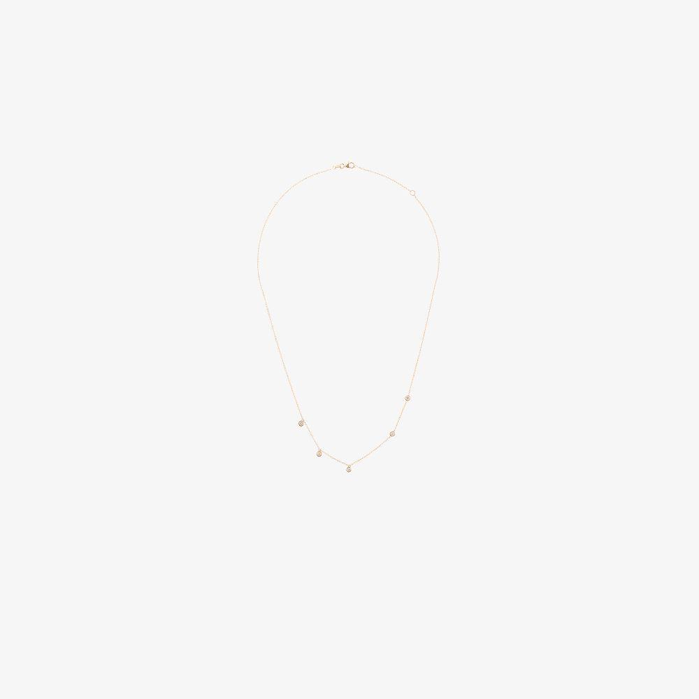 18K Yellow Gold Ivy Diamond Necklace
