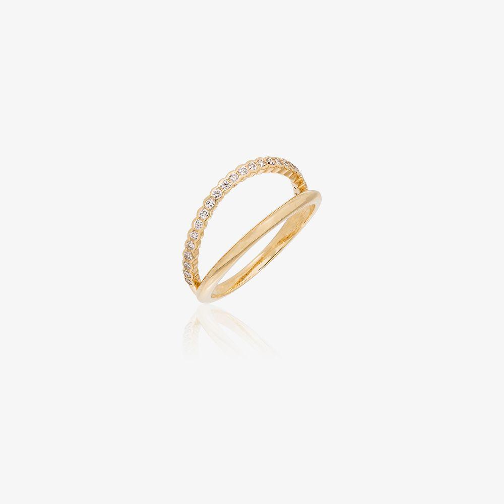 18K Yellow Gold Ally Diamond Ring