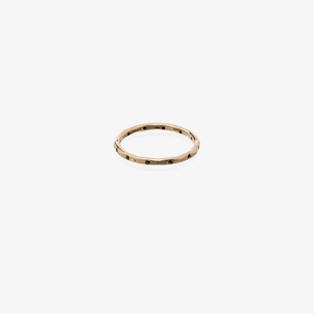 14kt Yellow Gold Black Diamond Ring