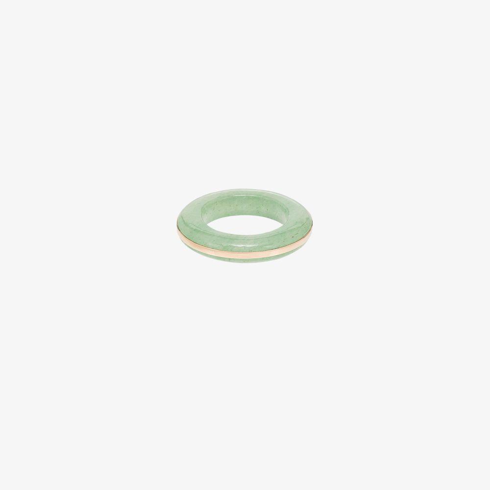 14K Yellow Gold In The Green Aventurine Ring