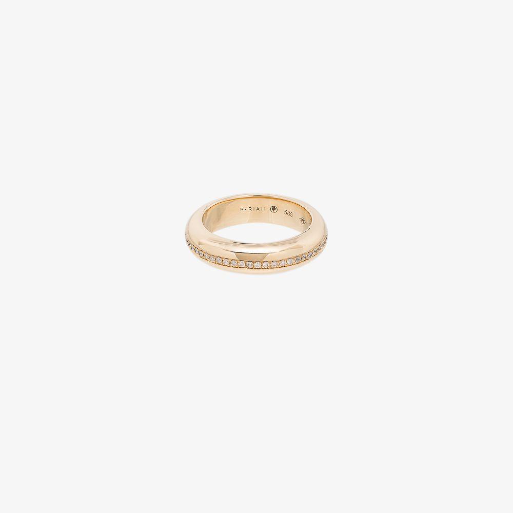 14K Yellow Gold Victoria Diamond Ring