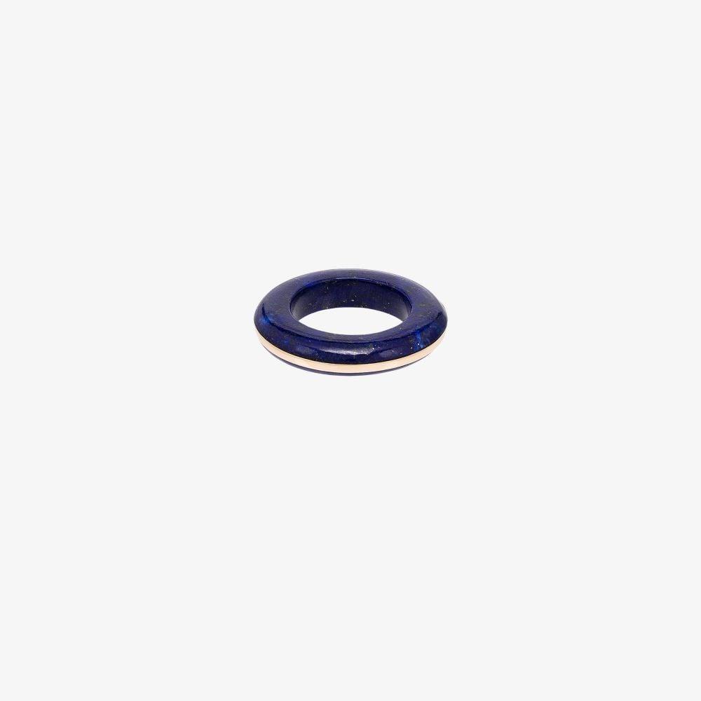 14K Yellow Gold True Blue Lapis Lazuli Ring