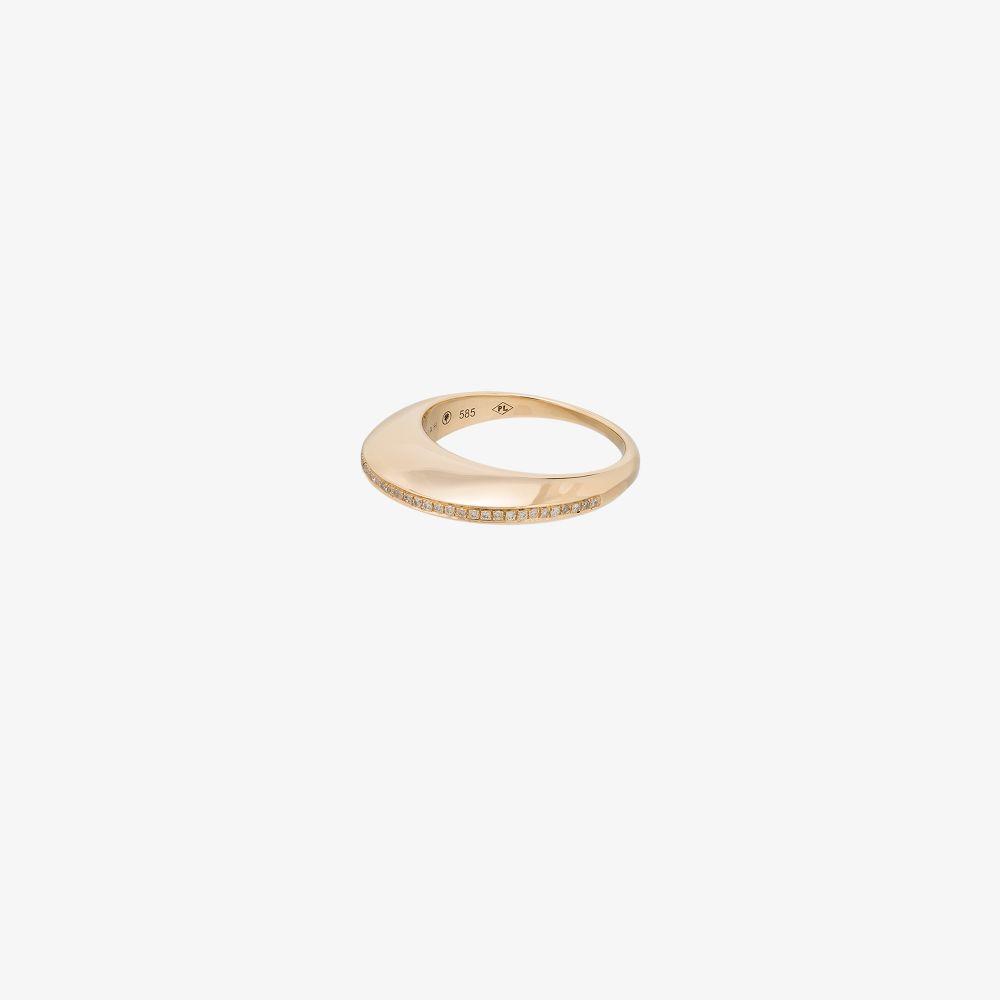 14K Yellow Gold Gold Linings Diamond Ring