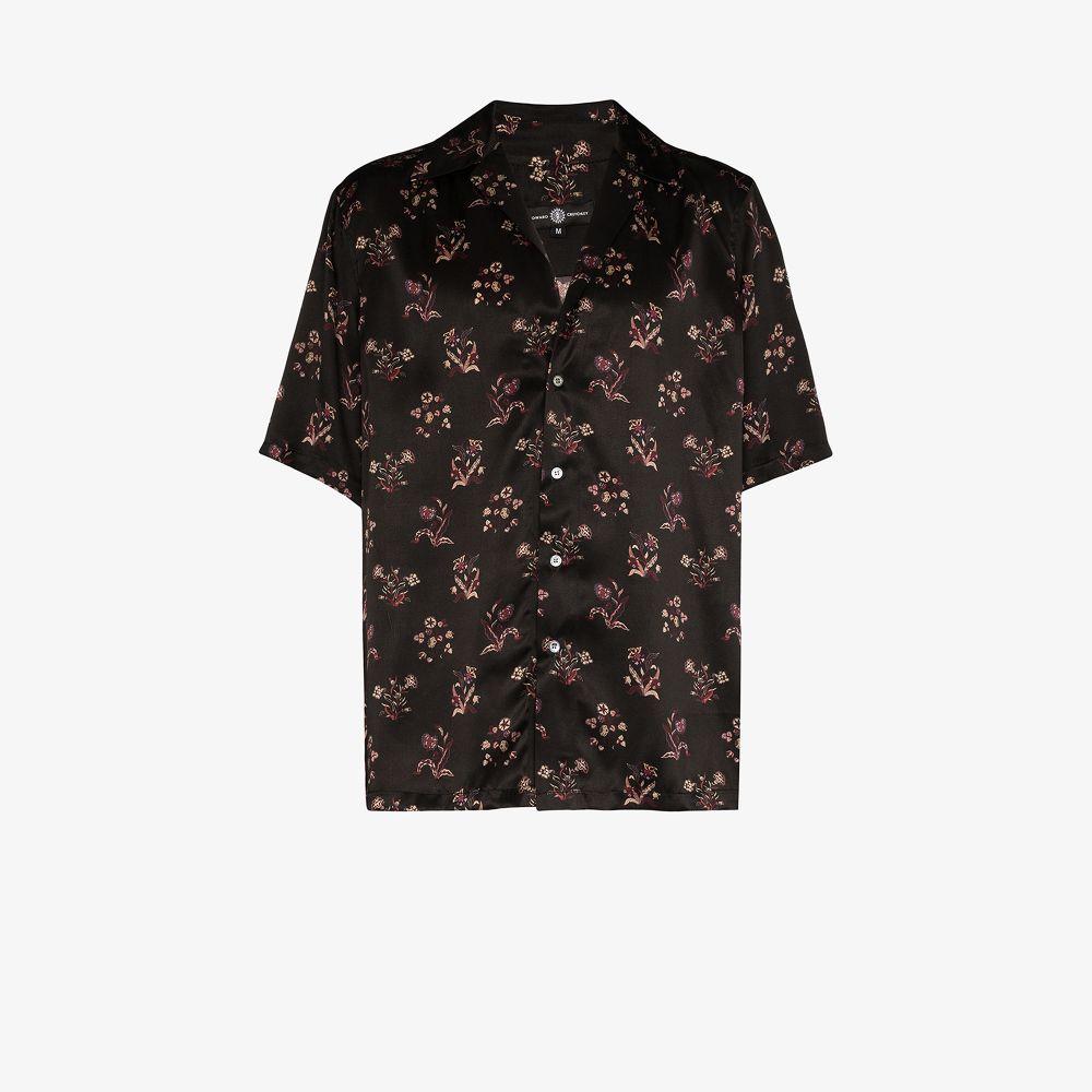 Floral Print Silk Hawaiian Shirt