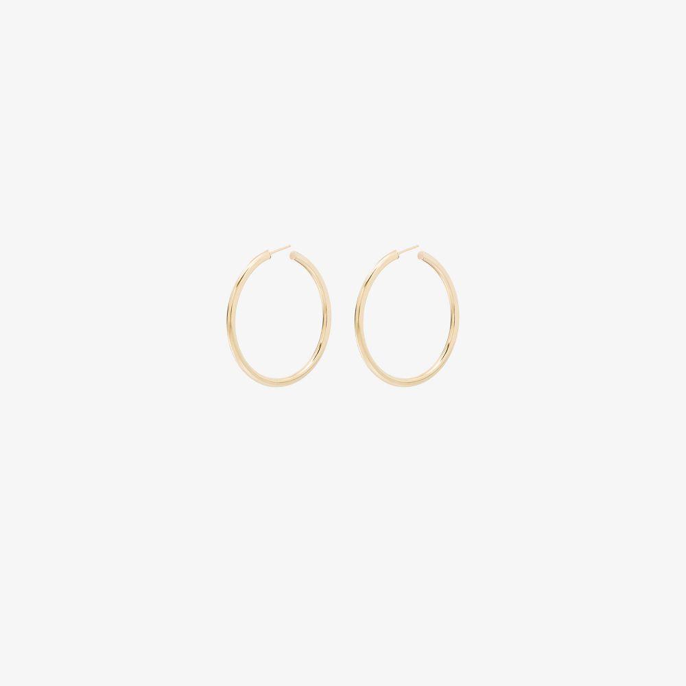 10K Yellow Gold Natasha Hoop Earrings