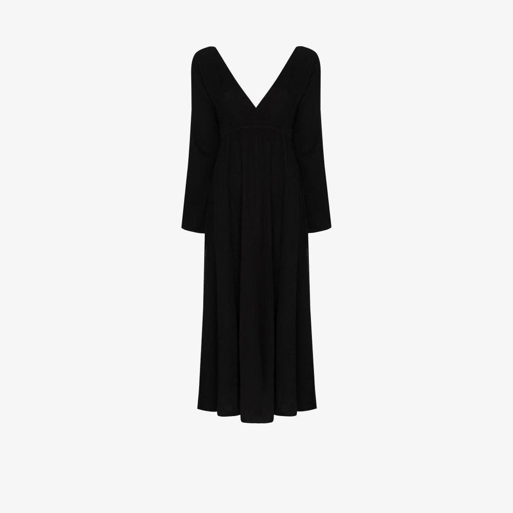 V-Neck Cotton Midi Dress