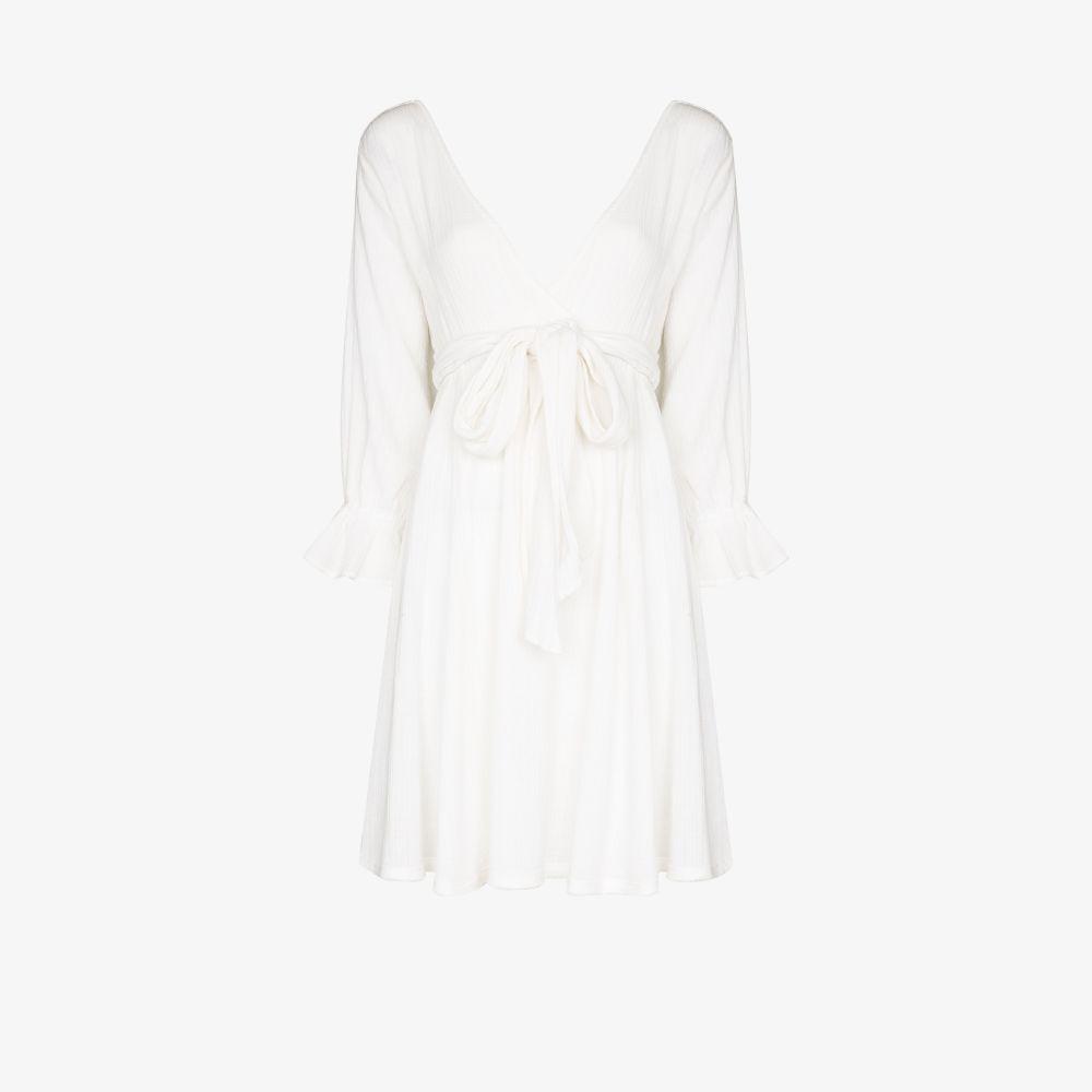 Belted Cotton Mini Dress