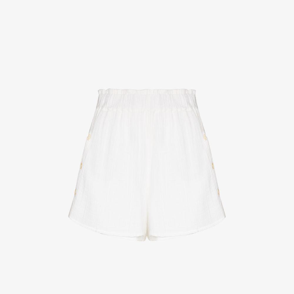 Buttoned Cotton Shorts