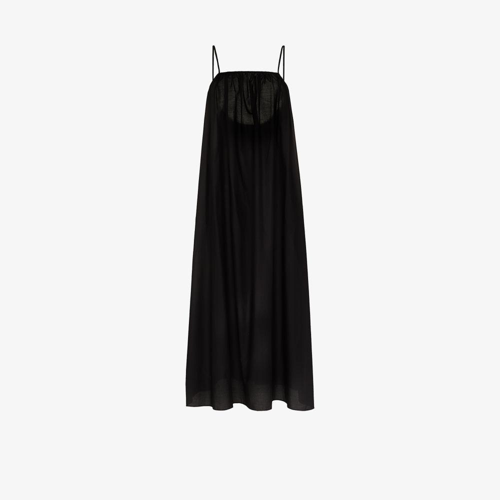 Square Neck Cotton Maxi Dress