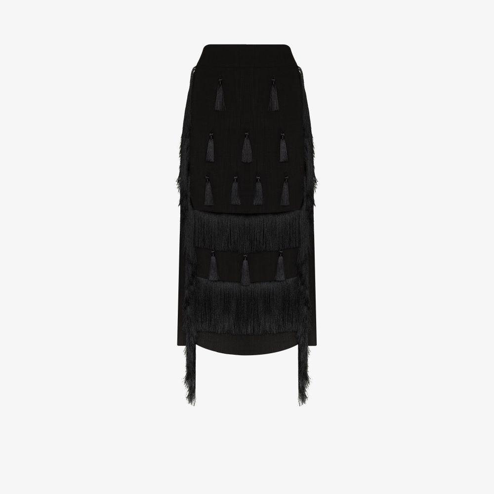 X Homecoming Tasselled Midi Skirt