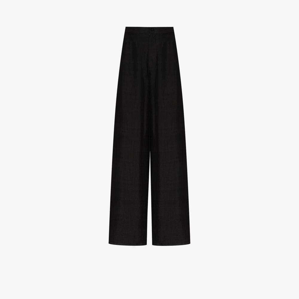 Byron Wide Leg Organic Silk Trousers