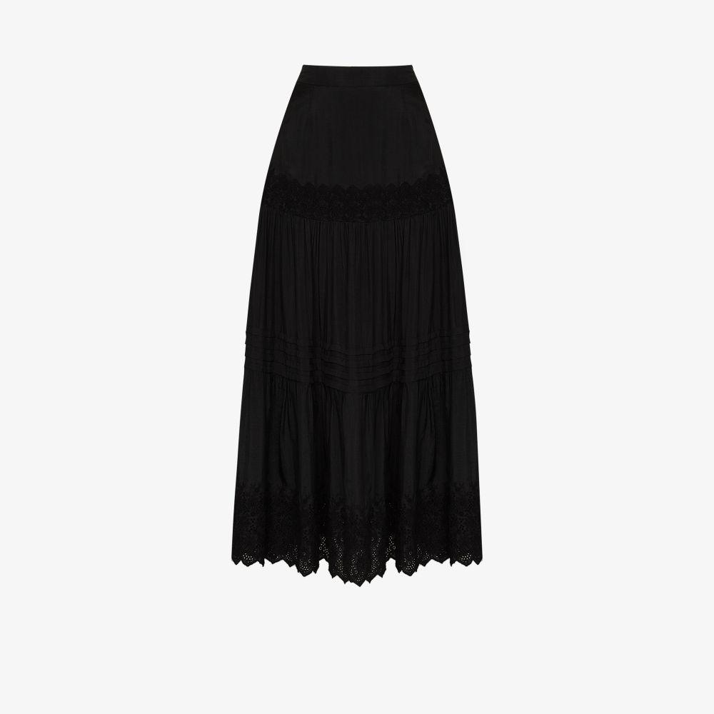 Kate Lace Organic Silk Maxi Skirt