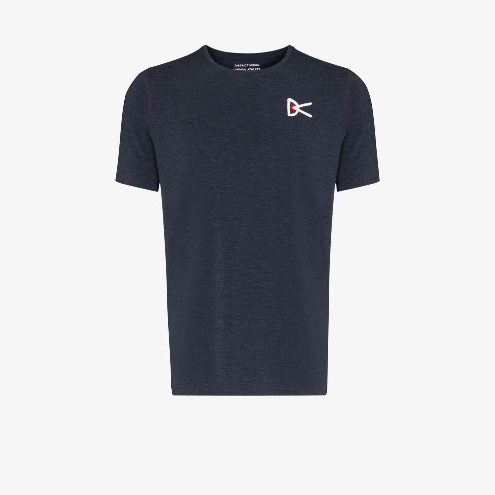 Blue Tadasana Mountain Performance T-Shirt
