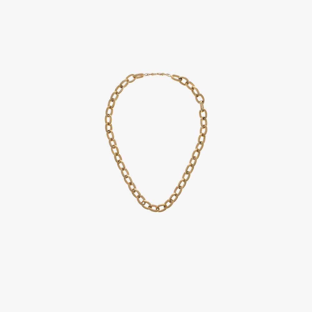 10K Yellow Gold Rosa Chain Choker Necklace