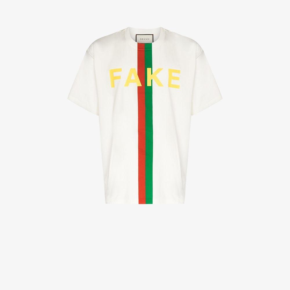 Gucci WHITE FAKE/NOT PRINTED T-SHIRT