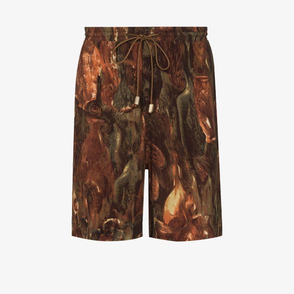 Nanushka Shorts GREEN DOXXI PATTERNED SHORTS