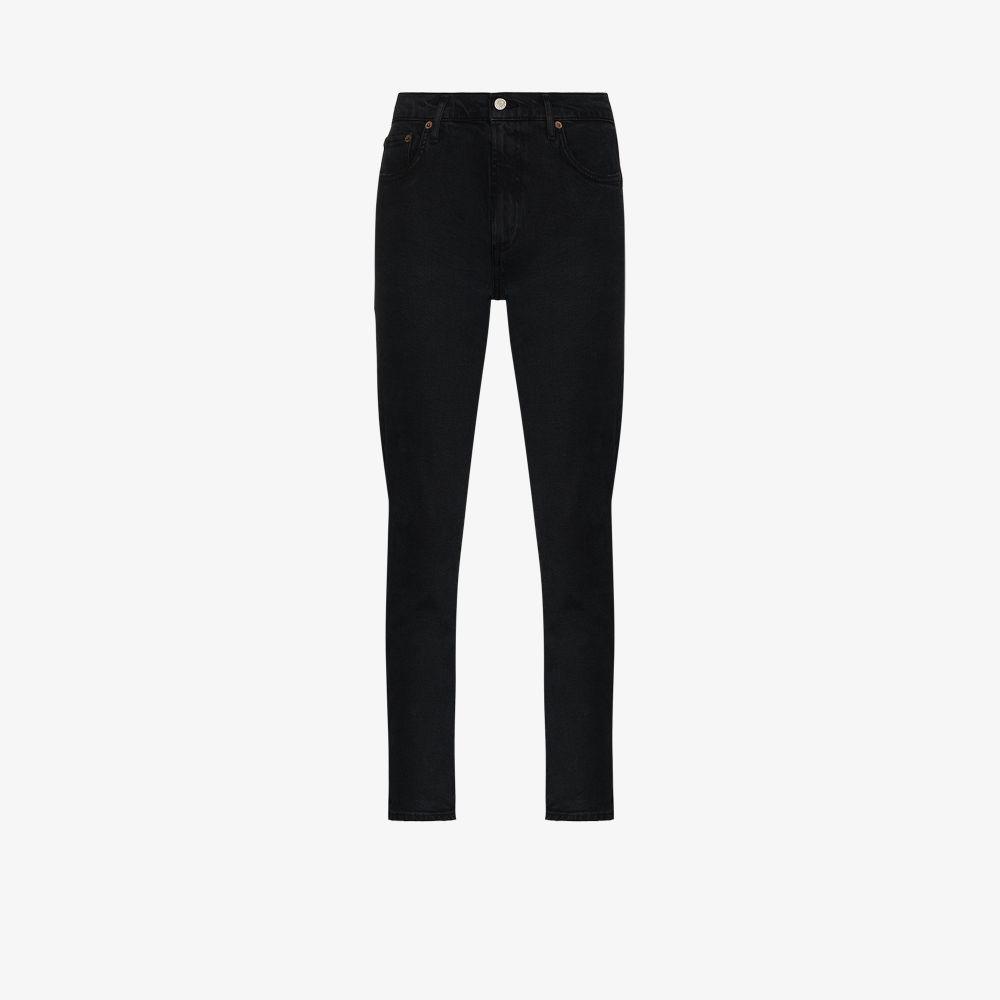 Agolde Straight jeans BLACK TONI MID-RISE STRAIGHT LEG JEANS