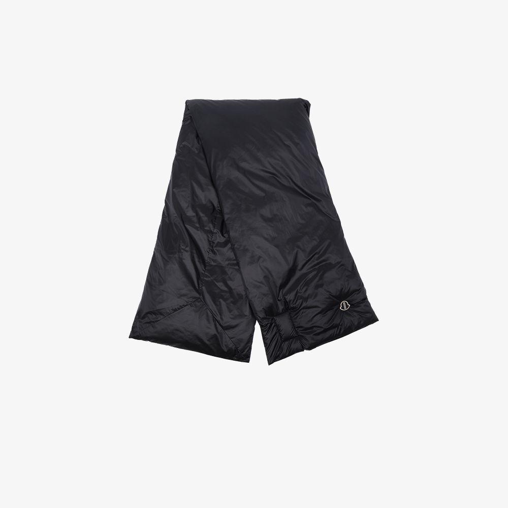 X Moncler Black Padded Scarf
