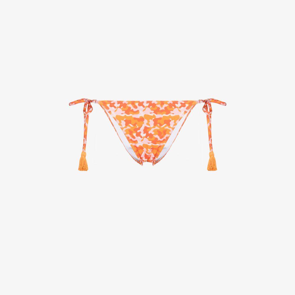 Gigi Camouflage Print Bikini Bottoms