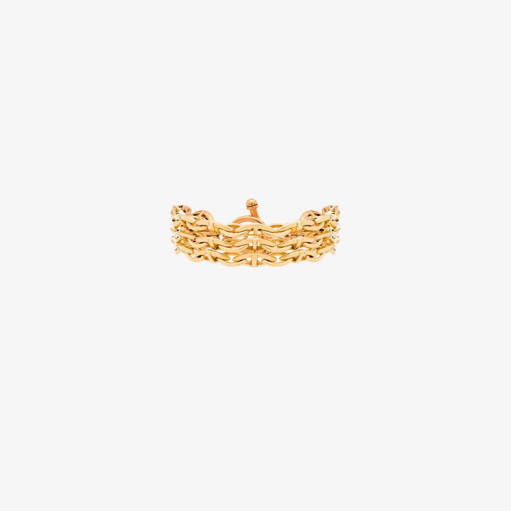 Gold Vermeil Triple Threat Chain Bracelet