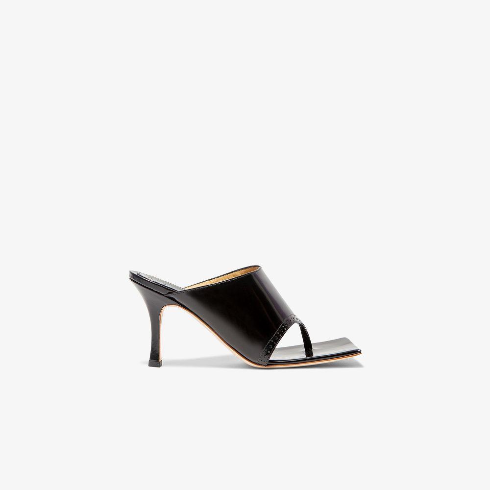 Black Katie 75 Leather Sandals