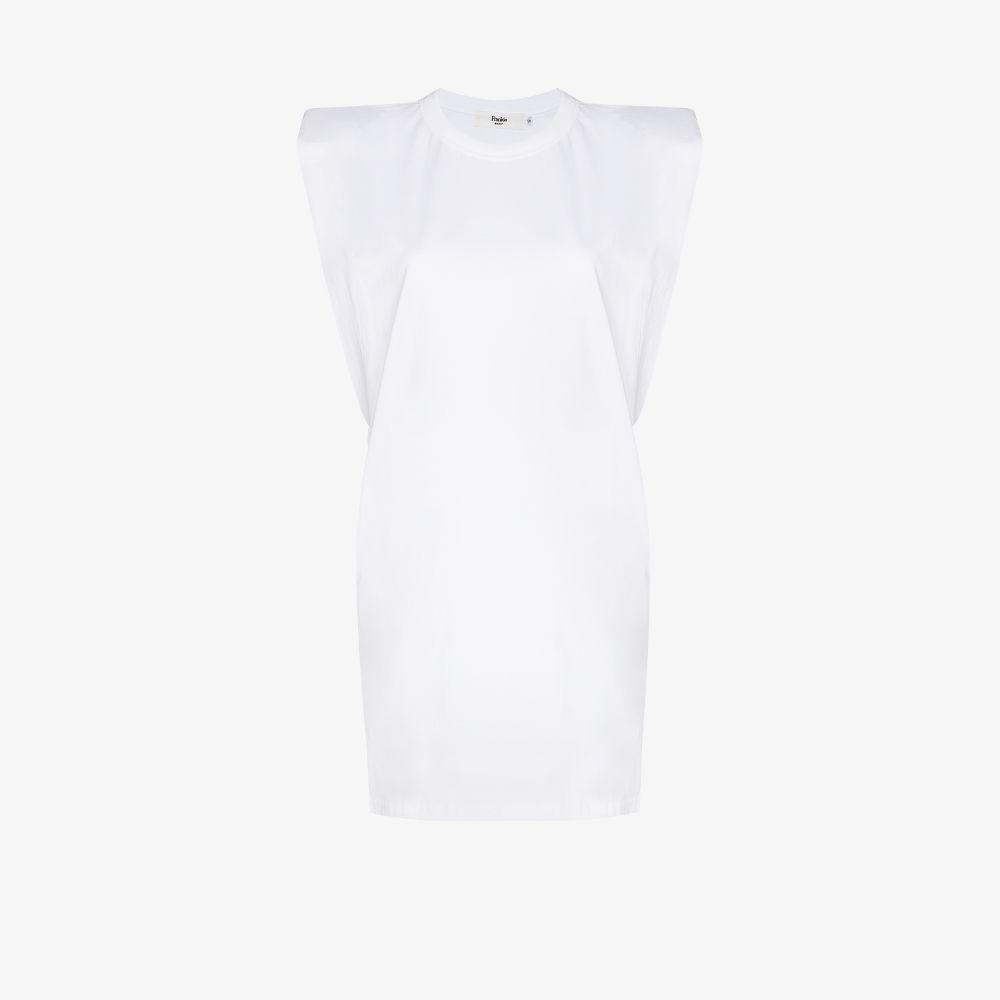 Tina Padded Shoulder T-Shirt Dress