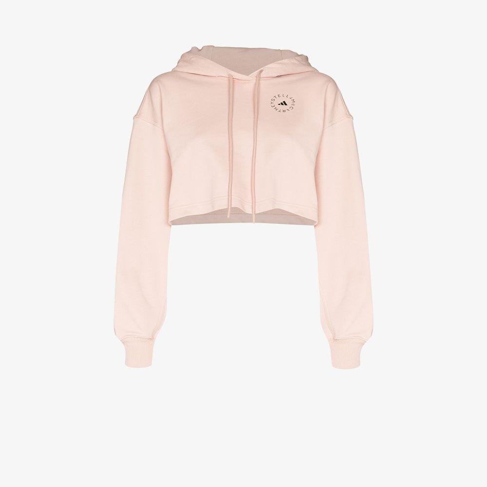 Adidas By Stella Mccartney Cottons FUTUREPLAYGROUND CROPPED HOODIE
