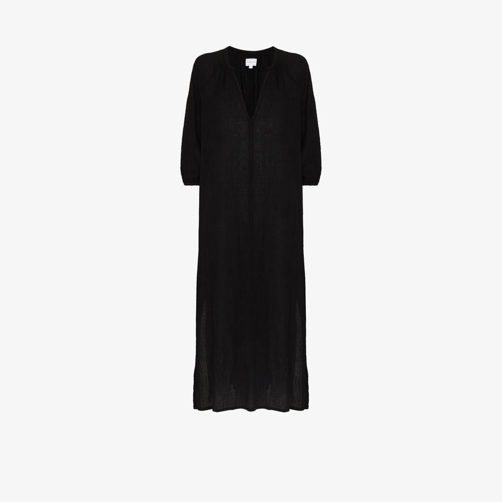 Bianca V-Neck Cotton Midi Dress