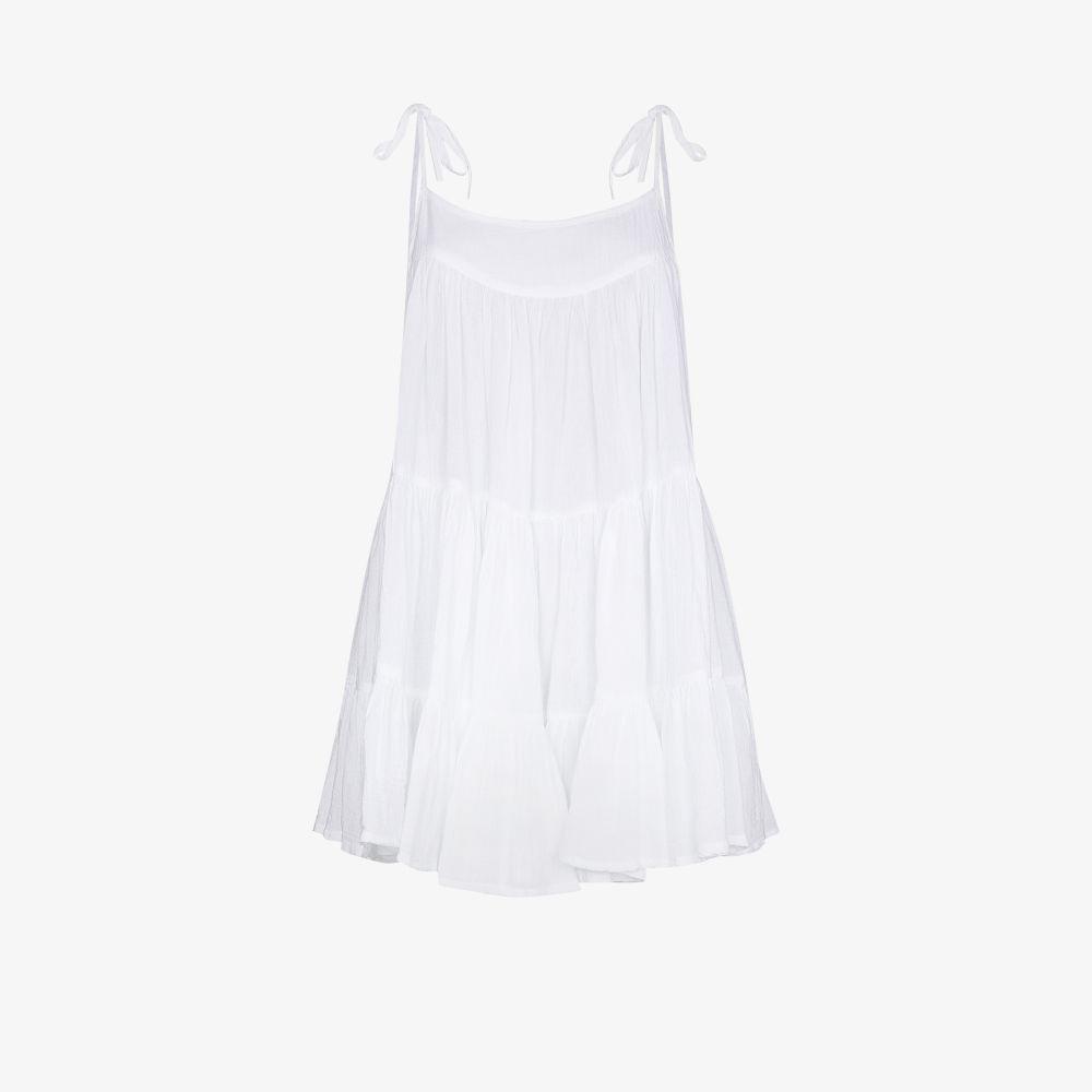 Peri Tiered Cotton Mini Dress